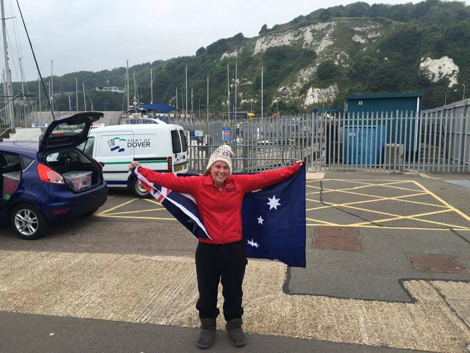 Meg Completes English Channel Solo!